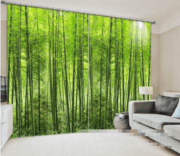 3D Bamboo Forest 952 Curtains Drapes Wallpaper AJ Wallpaper