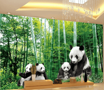 Bamboo Forest Pandas Wallpaper AJ Wallpaper 2