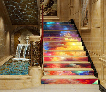 3D Bright Color Stars Sky 1006 Stair Risers Wallpaper AJ Wallpaper
