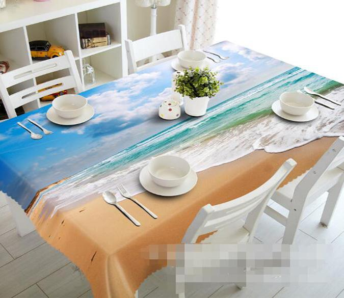 3D Beach Scenery 984 Tablecloths
