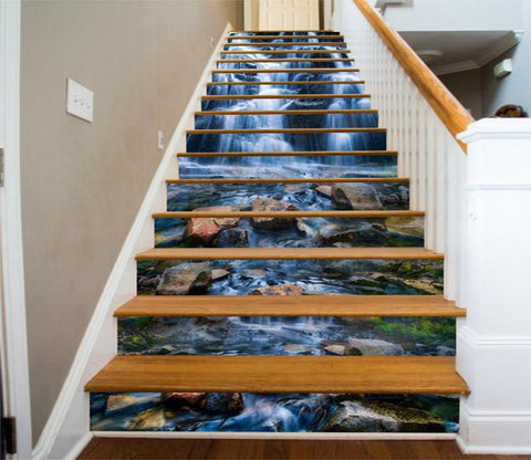 3D River Stones 62 Stair Risers