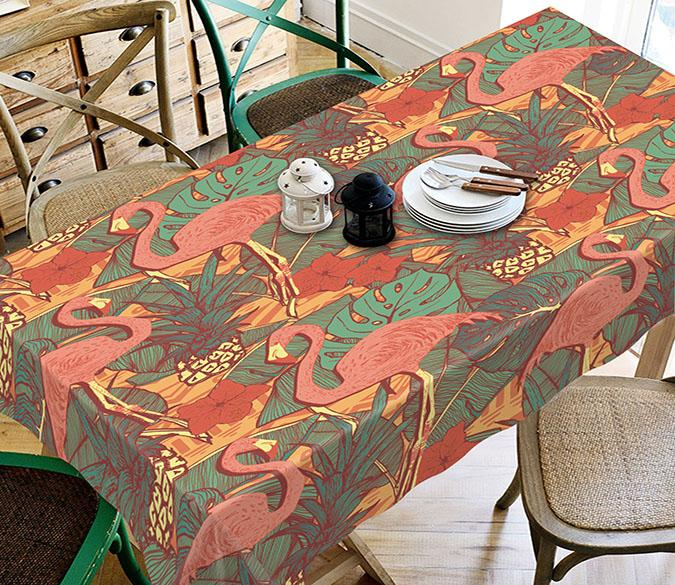 3D Birds Leaves Pattern 172 Tablecloths