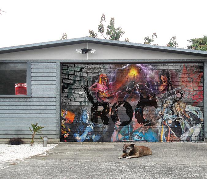 3D Graffiti Singers 379 Garage Door Mural Wallpaper AJ Wallpaper