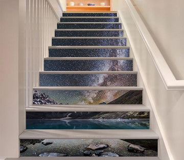 3D Lake Stars Sky 939 Stair Risers Wallpaper AJ Wallpaper