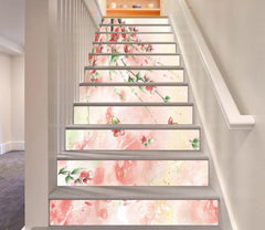 3D Dancing Flowers 6 Stair Risers