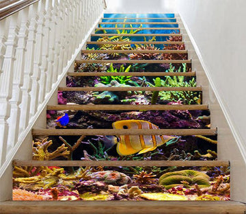 3D Colorful Seabed 852 Stair Risers Wallpaper AJ Wallpaper
