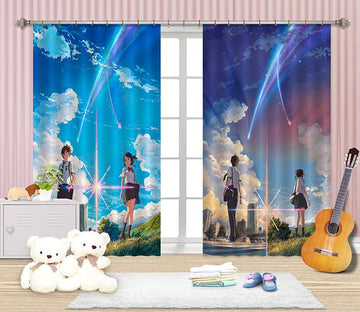 3D Anime Characters 2385 Curtains Drapes