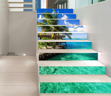 3D Seaside Pavilion 1476 Stair Risers Wallpaper AJ Wallpaper