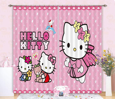 3D Pretty Cartoon Cats 2462 Curtains Drapes