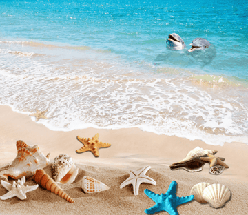 3D Beach Scenery Floor Mural Wallpaper AJ Wallpaper 2