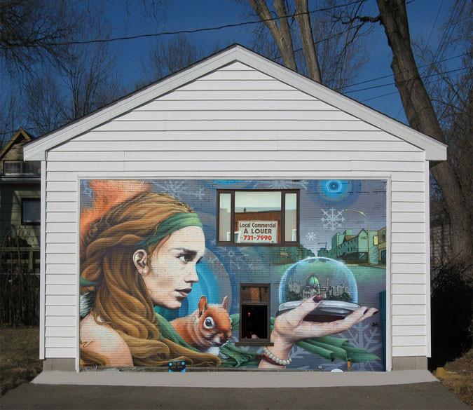 3D Pretty Graffiti Girl 336 Garage Door Mural Wallpaper AJ Wallpaper