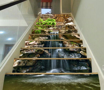 3D Rock River 386 Stair Risers Wallpaper AJ Wallpaper