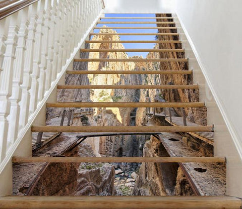 3D Mountain Plank Road 396 Stair Risers