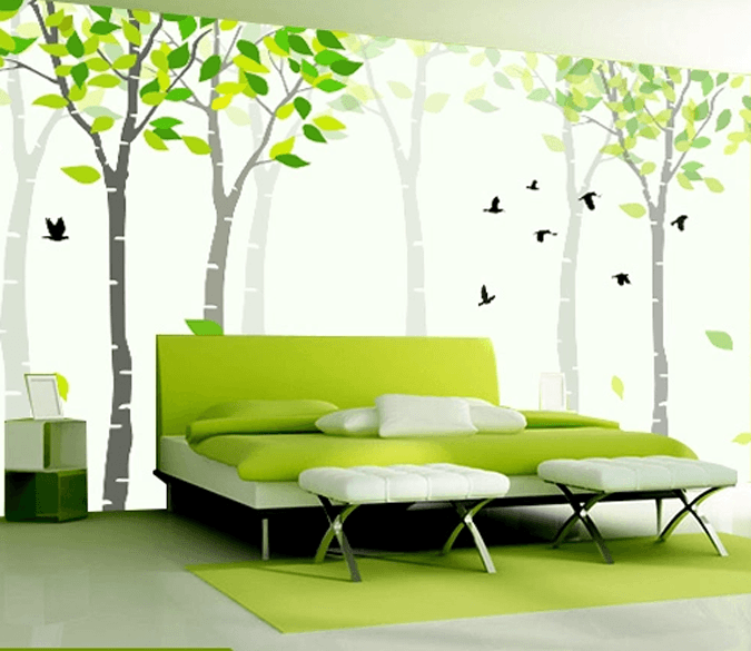 Green Young Trees Wallpaper AJ Wallpaper