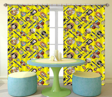 3D Anime Character Pattern 2339 Curtains Drapes