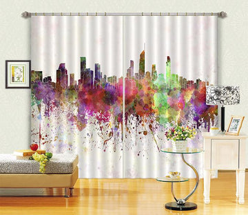 3D Graffiti City 648 Curtains Drapes