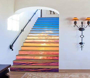 3D Vast Sea Sunset 1562 Stair Risers Wallpaper AJ Wallpaper