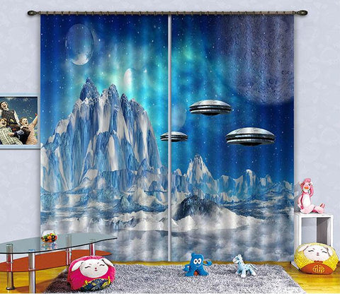 3D Outer Space Scenery 2440 Curtains Drapes
