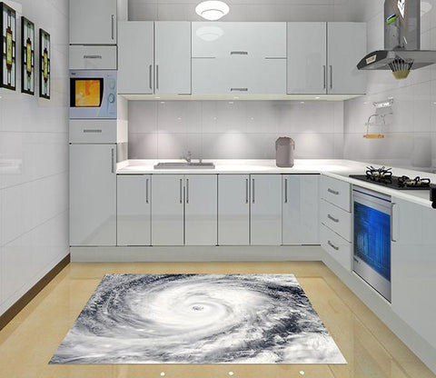 3D Sea Vortex Kitchen Mat Floor Mural