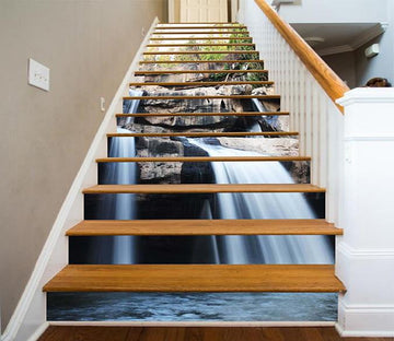 3D Waterfall Rocks 1595 Stair Risers Wallpaper AJ Wallpaper