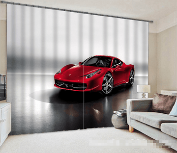 3D Luxury Sports Car 1065 Curtains Drapes