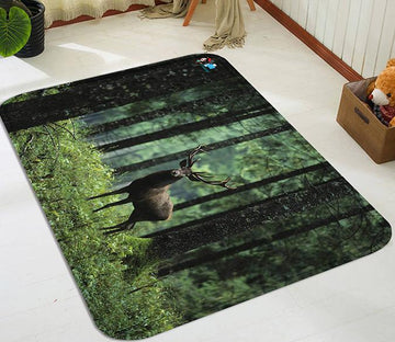 3D Forest Deer 109 Non Slip Rug Mat Mat AJ Creativity Home