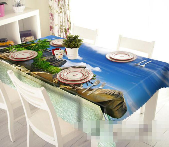 3D Beach Stones 1278 Tablecloths