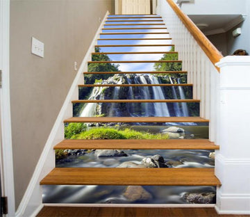 3D Beautiful Waterfall 409 Stair Risers Wallpaper AJ Wallpaper