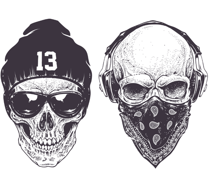 Fashional Skulls Wallpaper AJ Wallpaper