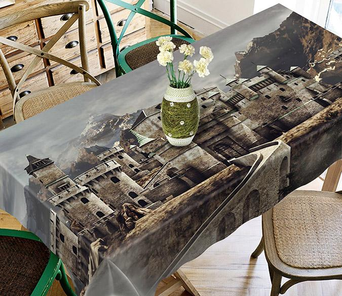 3D Ancient Castle 548 Tablecloths