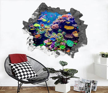 3D Bright Colorful Corals 217 Broken Wall Murals