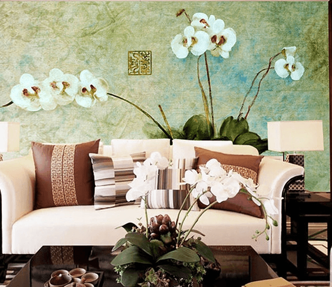 White Orchids Wallpaper AJ Wallpaper