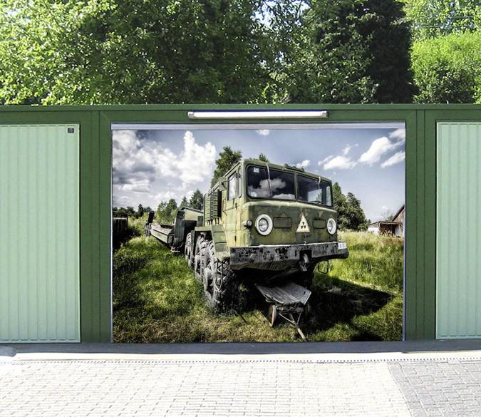 3D Grassland Trailer 326 Garage Door Mural Wallpaper AJ Wallpaper
