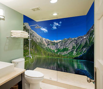 3D Alpine Lake 28 Bathroom Wallpaper