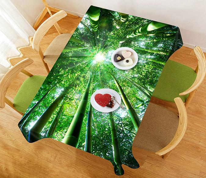 3D Bamboo Forest 55 Tablecloths
