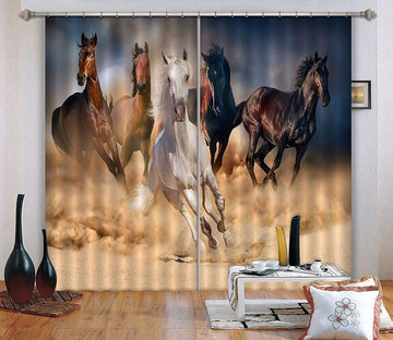3D Pentium Horses 641 Curtains Drapes Wallpaper AJ Wallpaper