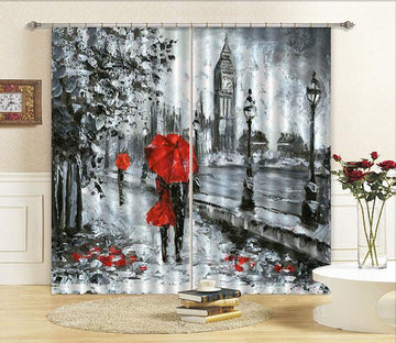 3D London Scenery Painting 378 Curtains Drapes Wallpaper AJ Wallpaper