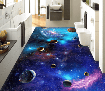 3D Shining Space Floor Mural Wallpaper AJ Wallpaper 2