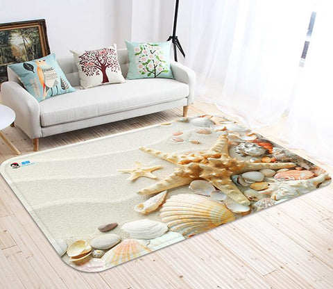 3D Beach Treasures 20 Non Slip Rug Mat