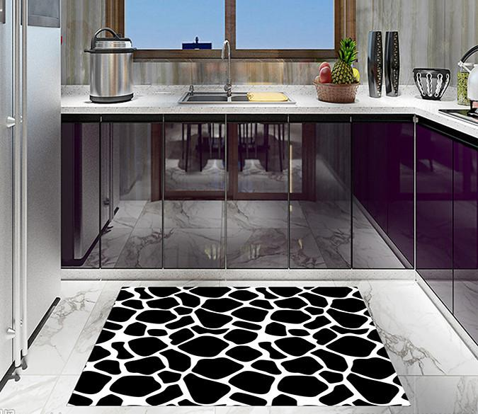 3D Black Spots 696 Kitchen Mat Floor Mural
