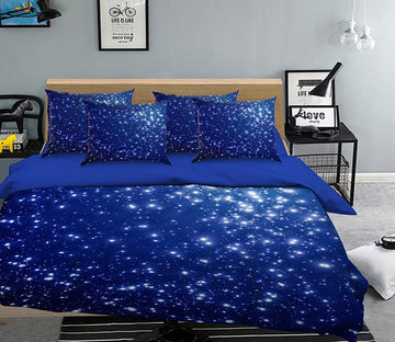 3D  Shiny Stars Sky 128 Bed Pillowcases Quilt