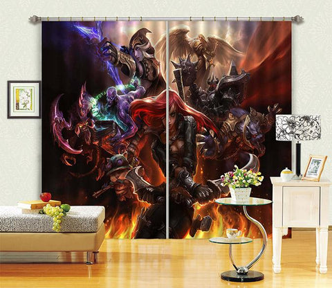 3D Game Characters 2460 Curtains Drapes