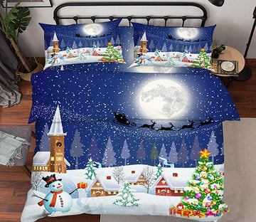 3D Christmas Eve 55 Bed Pillowcases Quilt Wallpaper AJ Wallpaper