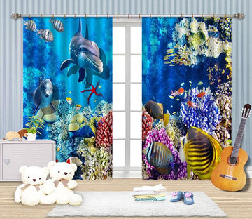 3D Bright Ocean World 2262 Curtains Drapes Wallpaper AJ Wallpaper