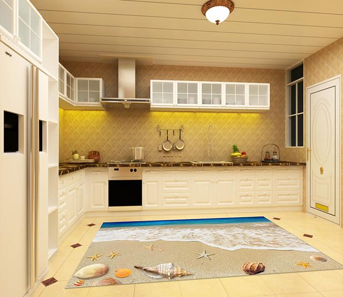 3D Beach Scenery 037 Kitchen Mat Floor Mural