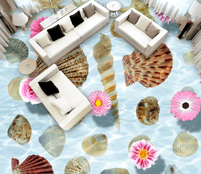 3D Sea Bottom Treasures Floor Mural Wallpaper AJ Wallpaper 2