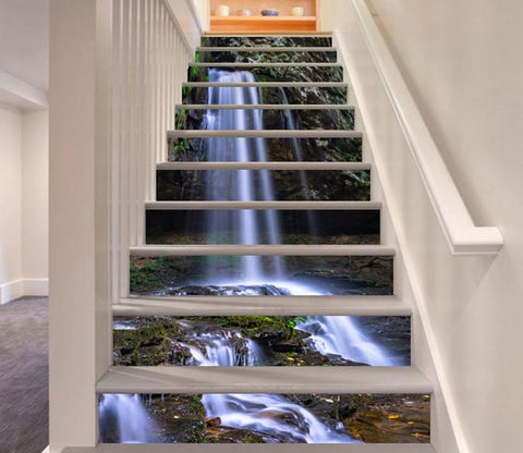 3D Pretty Waterfall 499 Stair Risers