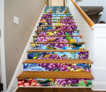 3D Colorful Seabed 784 Stair Risers Wallpaper AJ Wallpaper