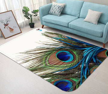 3D Peacock Feathers 32 Non Slip Rug Mat Mat AJ Creativity Home
