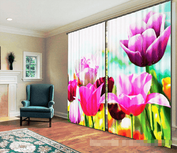 3D Bright Flowers 1188 Curtains Drapes Wallpaper AJ Wallpaper